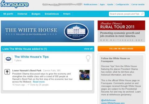 Obama Foursquare