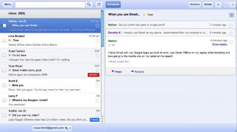 Aplicacion gmail docs calendar offline