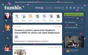 tumblr celebracion billon mensajes