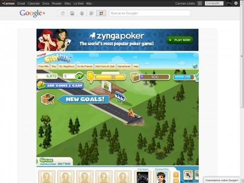 Zynga cityville plus google plus