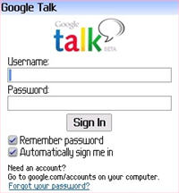 Gtalk de Blackberry