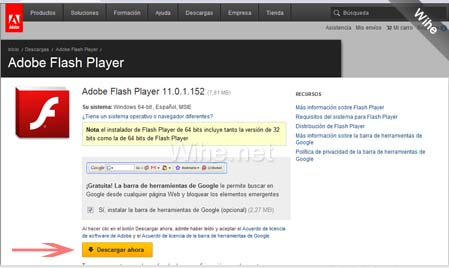 actualizar adobe flash player