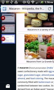 Captura de Firefox en funcionamiento del Android