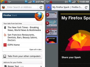 Capturas de Firefox en Android