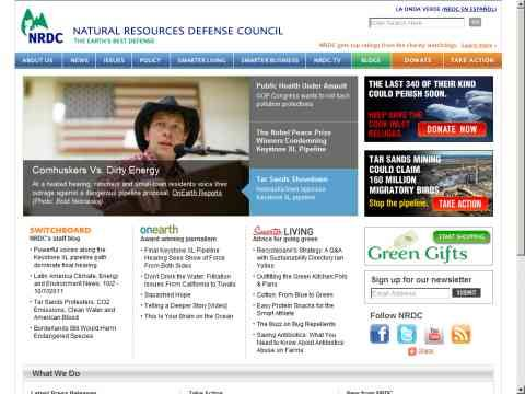 web de Natural Resources Defense Council