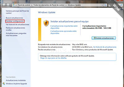 Configuración de Windows Update