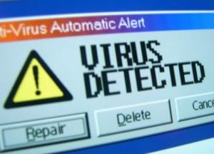 Captura de un virus detectado