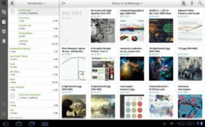 Evernote, aplicación del Kindle Fire