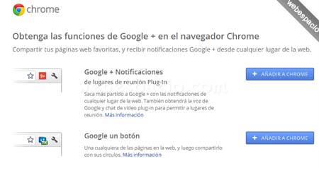 extensiones chrome para google plus