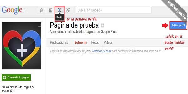 Cómo crear una página de Google+