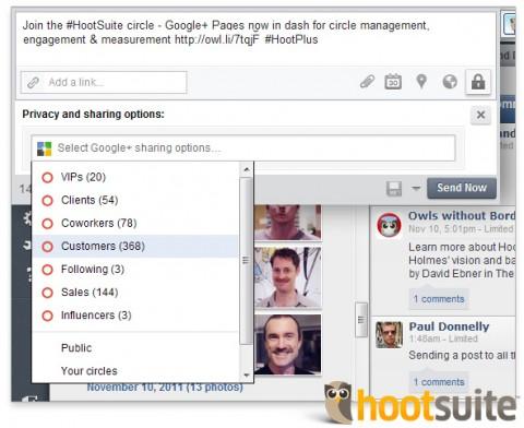 Gestión de terceros para las páginas de Google+