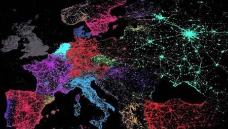 mapa mundo cómo habla tweets
