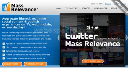 mass relevance se asocia con twitter