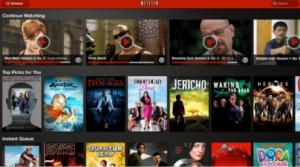 Aplicación Netflix de Kidnle Fire