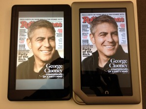 Nook Tablet y Kindle Fire revistas