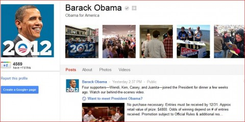 barack obama ya en google plus
