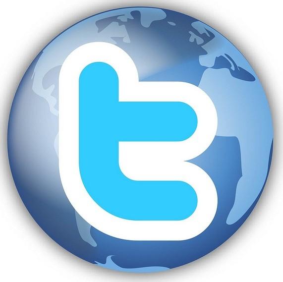 Logo de Twitter en el mundo
