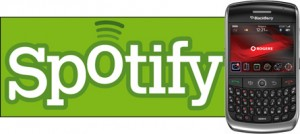 Spotify aplicación en Blackberry
