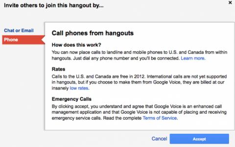 hangout de Google+ realiza llamadas gratis a móviles