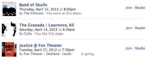 Facebook Eventos Sugeridos
