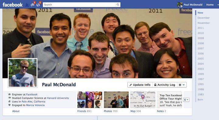 Biografía, el nuevo perfil de Facebook