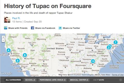 Usan Foursquare para contar la vida de raperos