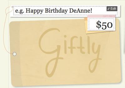 Giftly: envía tarjetas de regalos virtuales para canjear en tiendas