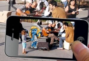 Pitufos en fotografías de iPhone