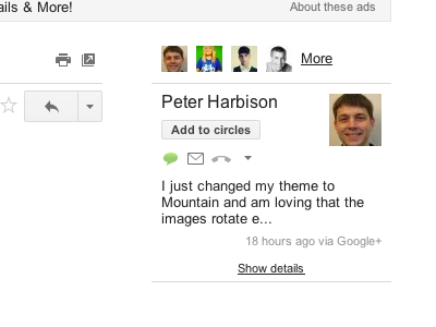 Google+ se integra a Gmail para sincronizar contactos y compartir fotos