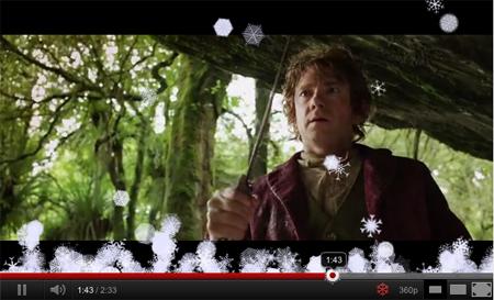 youtube agrega copo de nieve por navidad