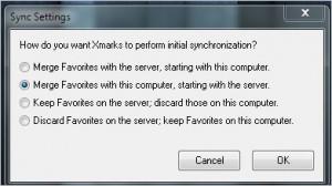Extensión Xmarks for IE