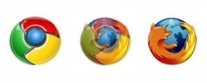 Firefox y Chrome logo