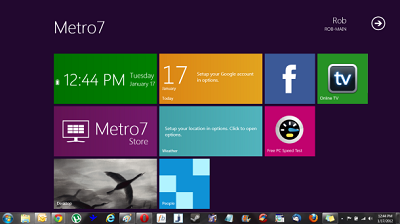 Windows 8 interfaz