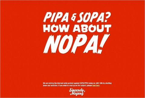 """Internet de """"luto"""" en contra de leyes antipiratería SOPA y PIPA"""