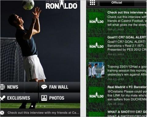 Cristiano Ronaldo lanza su propia aplicación para iPhone y Android