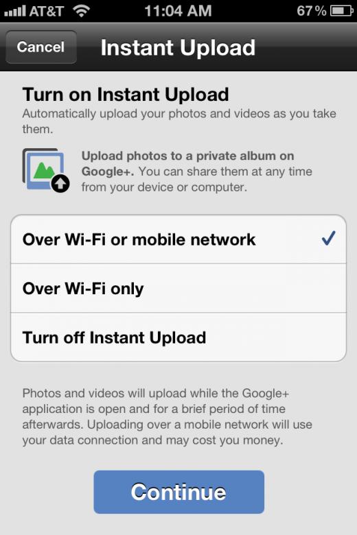 Nuevo Google+ para iOS con subida instantánea de fotos y videos