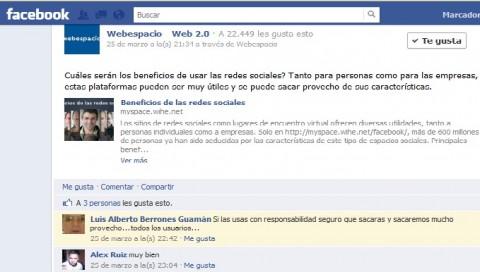 Facebook agrega enlaces permanentes a los comentarios y oculta spam