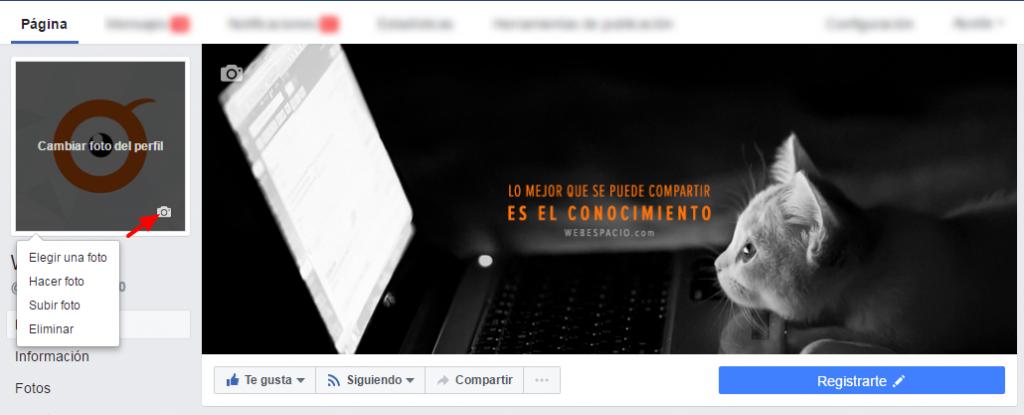 foto perfil paginas de facebook