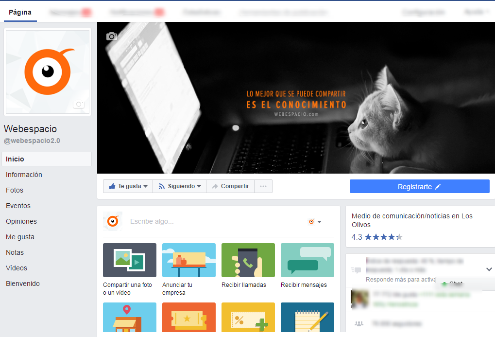 pagina de negocios facebook