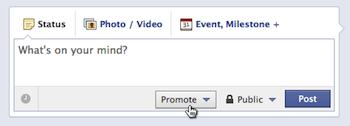 """Facebook prueba botón """"Promover"""" para páginas de empresas"""