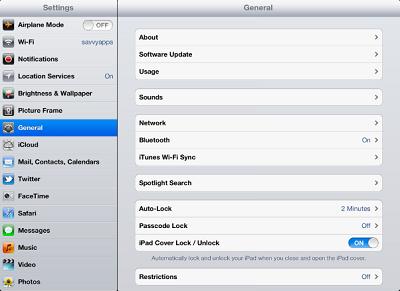 vistas del iPad