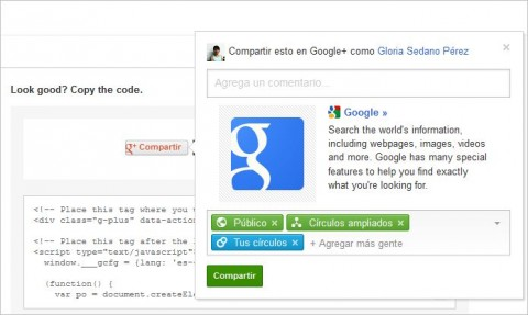 boton compartir google plus