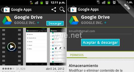 descargar google drive android