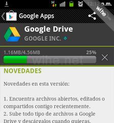 descargando google drive