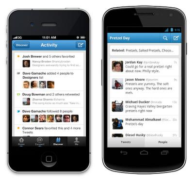 Llegaron las actualizaciones de Twitter para iPhone y Android