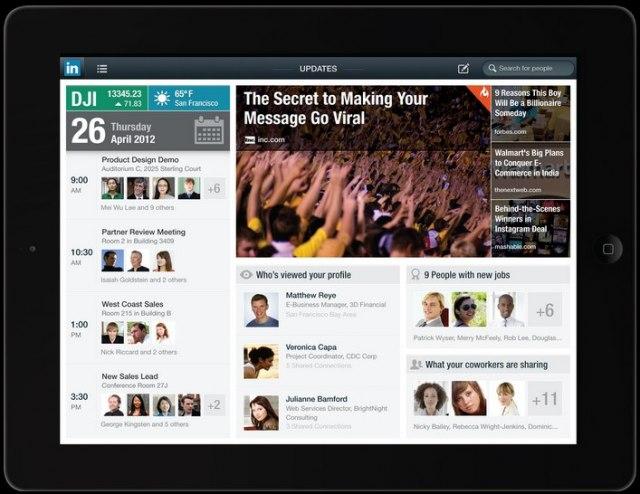 LinkedIn lanza su primera aplicación para iPad