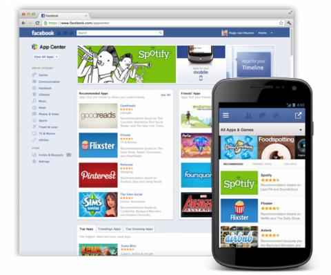 Facebook tienda de aplicaciones