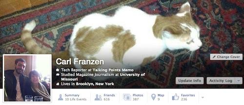 Facebook nueva Biografía