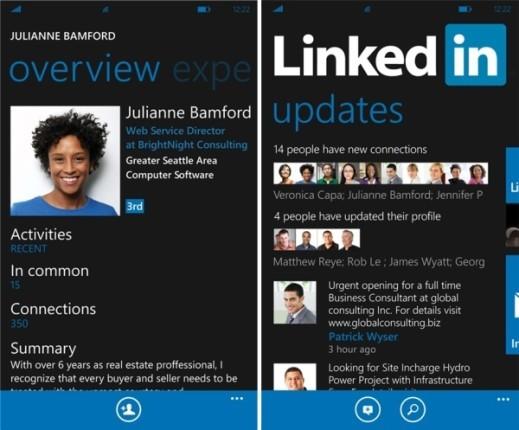LinkedIn Windows Phone