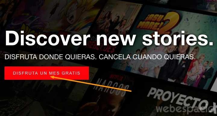 Cómo registrarse en Netflix paso 1